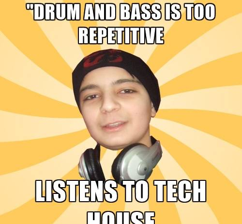 Drumandbass vs tech house